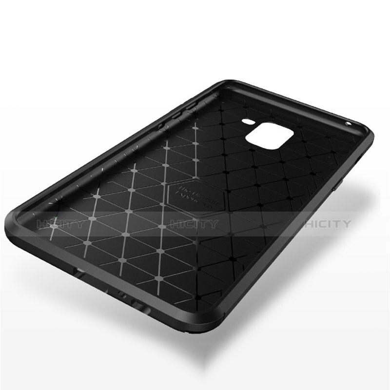 Samsung Galaxy A8+ A8 Plus (2018) A730F用シリコンケース ソフトタッチラバー ツイル カバー S01 サムスン