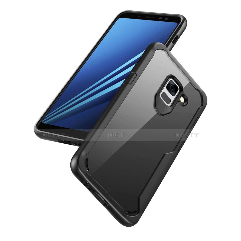 Samsung Galaxy A8+ A8 Plus (2018) A730F用ハイブリットバンパーケース クリア透明 プラスチック 鏡面 カバー サムスン