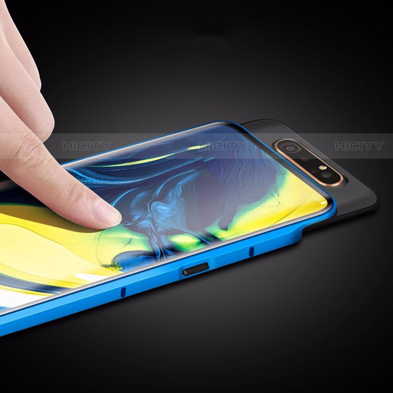 Samsung Galaxy A80用ケース 高級感 手触り良い アルミメタル 製の金属製 360度 フルカバーバンパー 鏡面 カバー M01 サムスン