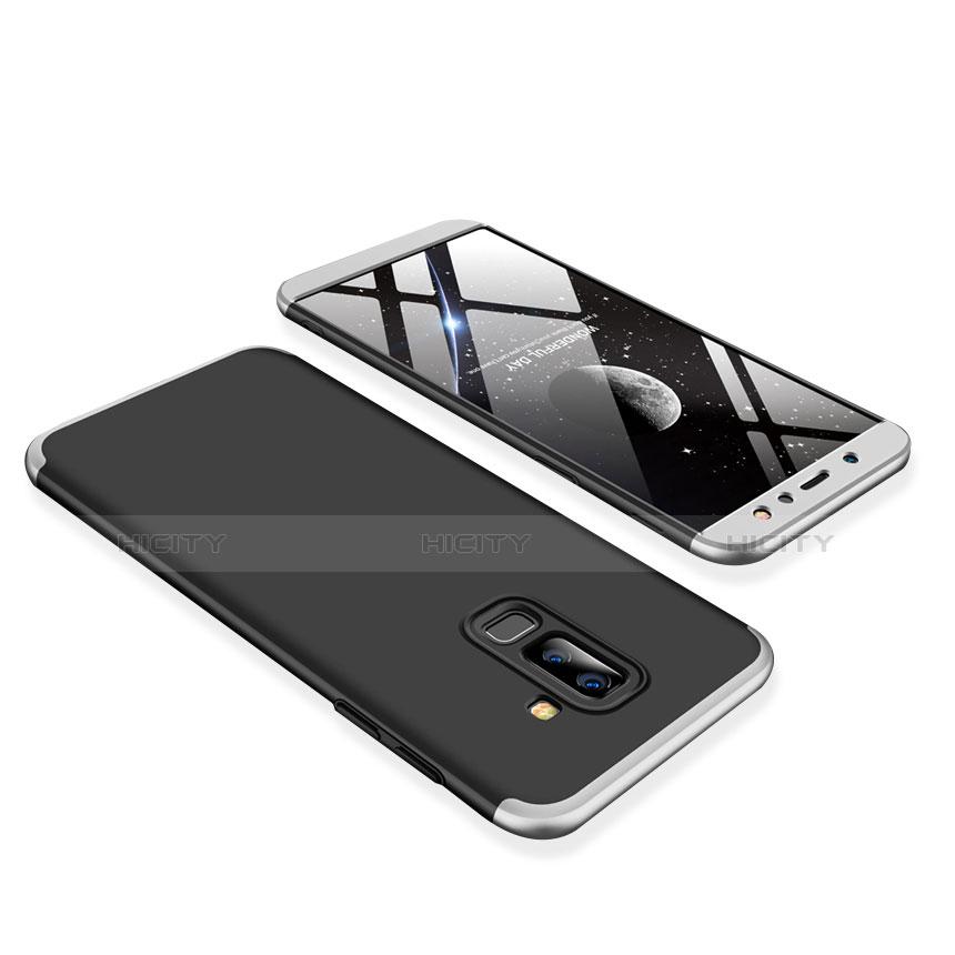 Samsung Galaxy A9 Star Lite用ハードケース プラスチック 質感もマット 前面と背面 360度 フルカバー サムスン シルバー