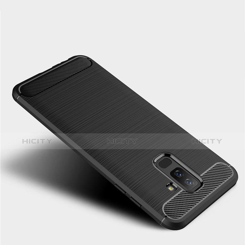 Samsung Galaxy A9 Star Lite用シリコンケース ソフトタッチラバー ツイル サムスン ブラック