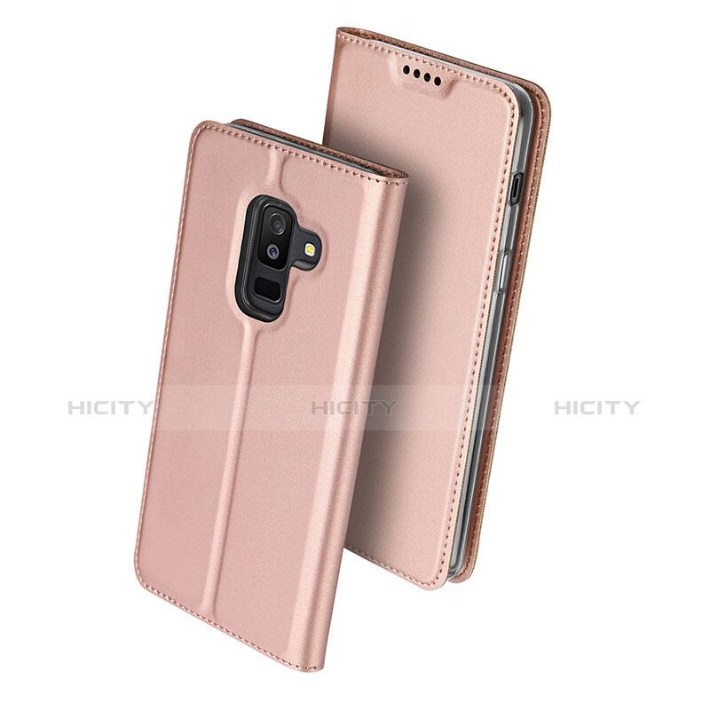 Samsung Galaxy A9 Star Lite用手帳型 レザーケース スタンド サムスン ピンク
