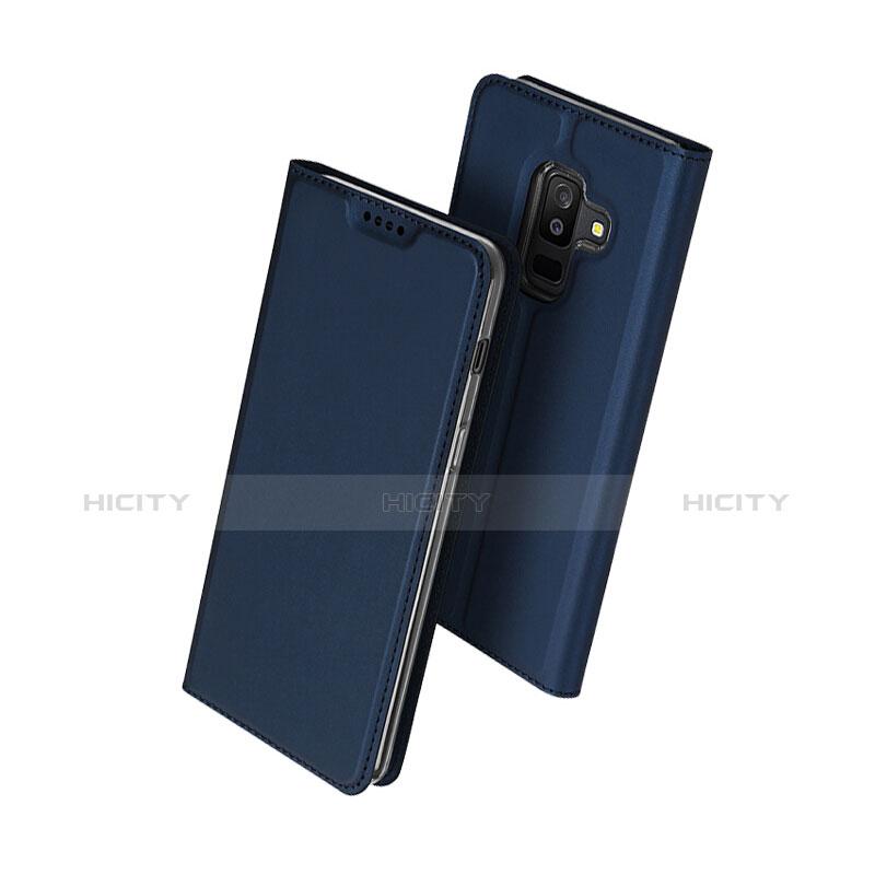 Samsung Galaxy A9 Star Lite用手帳型 レザーケース スタンド サムスン ネイビー