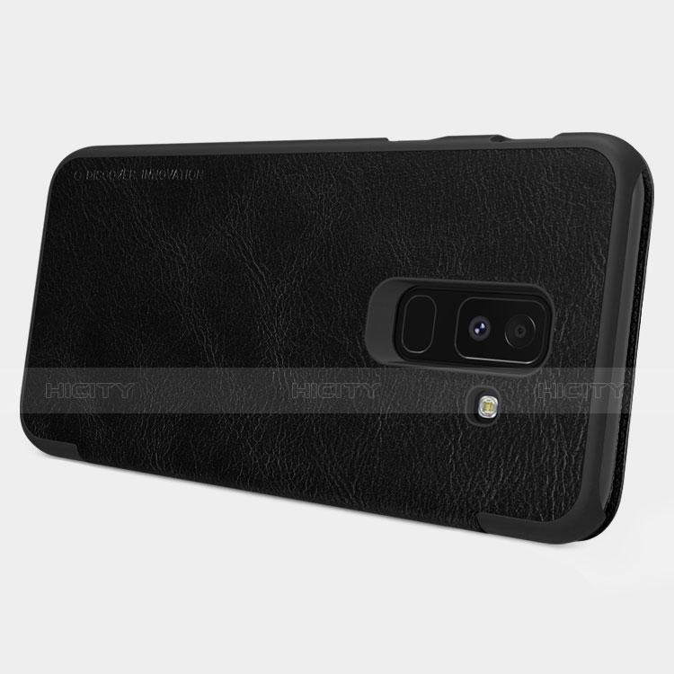 Samsung Galaxy A9 Star Lite用手帳型 レザーケース スタンド L01 サムスン ブラック