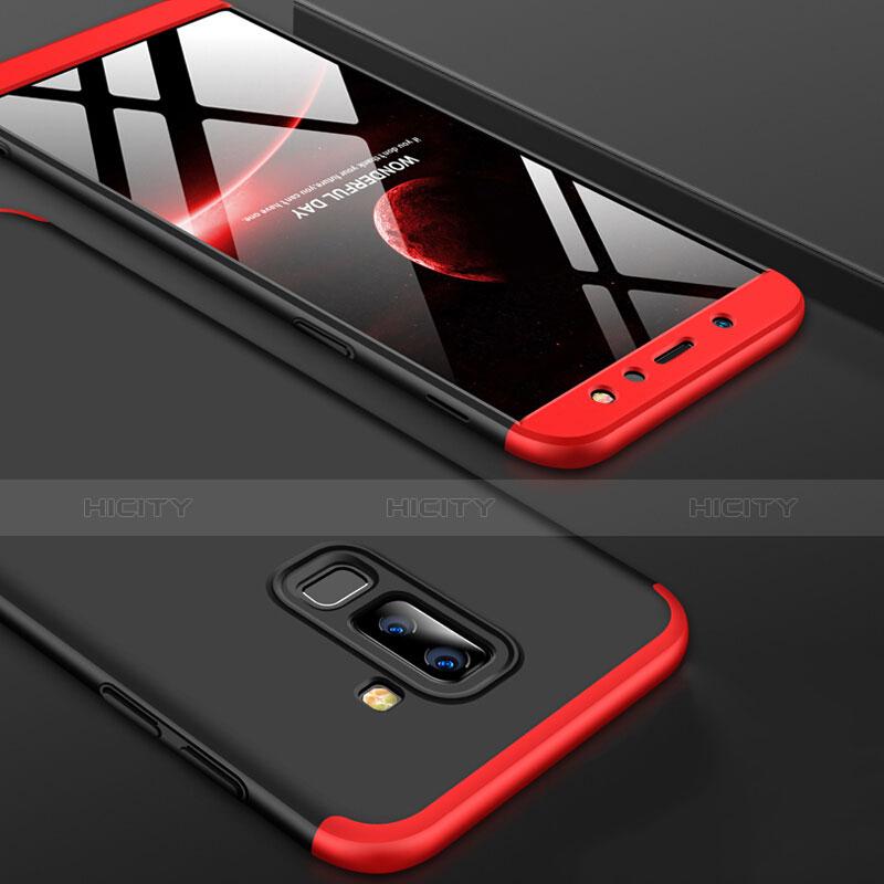 Samsung Galaxy A9 Star Lite用ハードケース プラスチック 質感もマット 前面と背面 360度 フルカバー Q02 サムスン レッド・ブラック