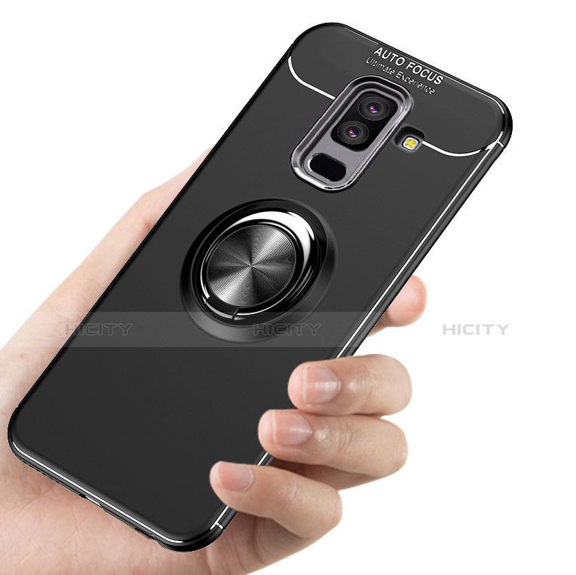 Samsung Galaxy A9 Star Lite用極薄ソフトケース シリコンケース 耐衝撃 全面保護 アンド指輪 マグネット式 A03 サムスン ブラック