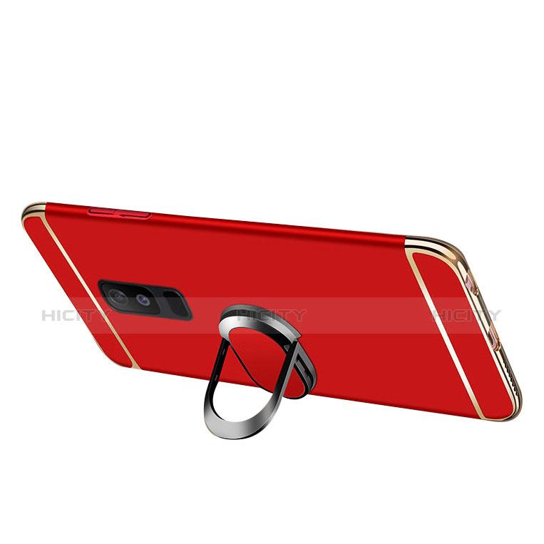 Samsung Galaxy A9 Star Lite用ケース 高級感 手触り良い メタル兼プラスチック バンパー アンド指輪 亦 ひも サムスン