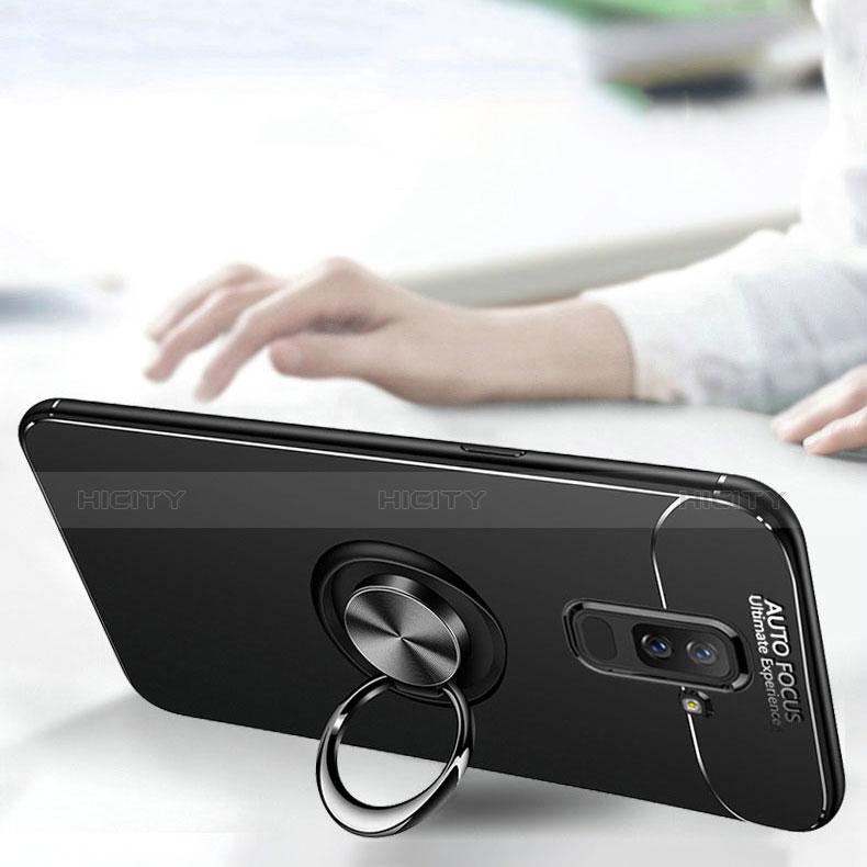 Samsung Galaxy A9 Star Lite用極薄ソフトケース シリコンケース 耐衝撃 全面保護 アンド指輪 バンパー サムスン