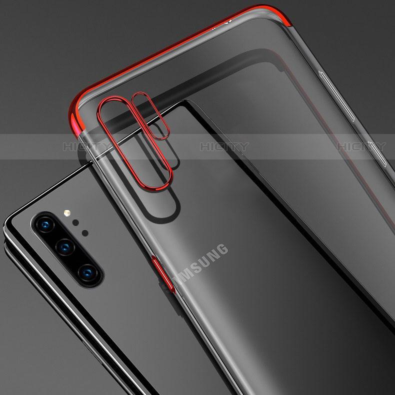 Samsung Galaxy Note 10 Plus 5G用極薄ソフトケース シリコンケース 耐衝撃 全面保護 クリア透明 H02 サムスン