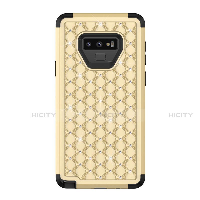 Samsung Galaxy Note 9用ハイブリットバンパーケース ブリンブリン カバー 前面と背面 360度 フル U01 サムスン ゴールド・ブラック
