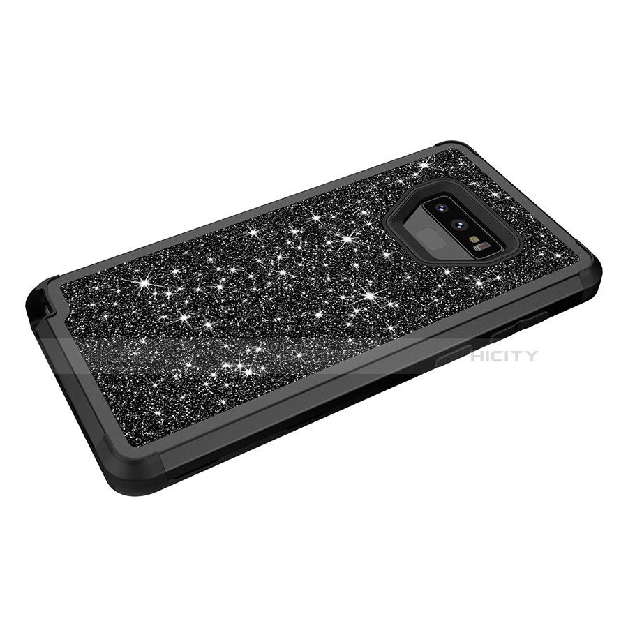 Samsung Galaxy Note 9用ハイブリットバンパーケース ブリンブリン カバー 前面と背面 360度 フル サムスン
