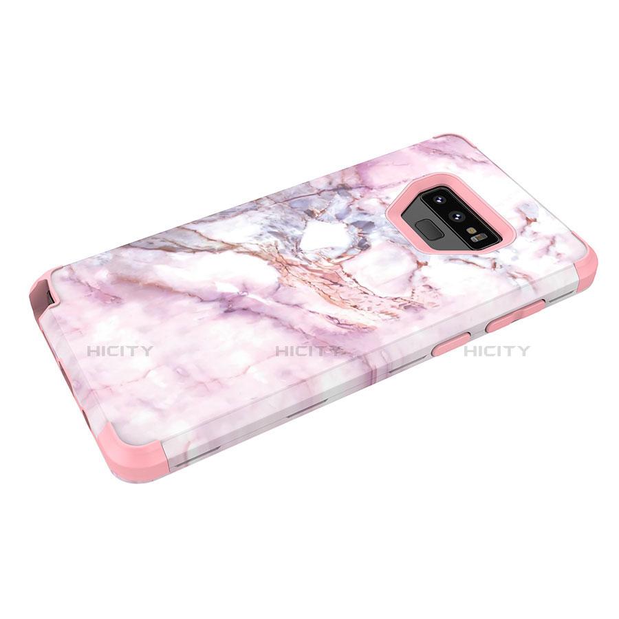 Samsung Galaxy Note 9用ハイブリットバンパーケース プラスチック 兼シリコーン カバー 前面と背面 360度 フル サムスン