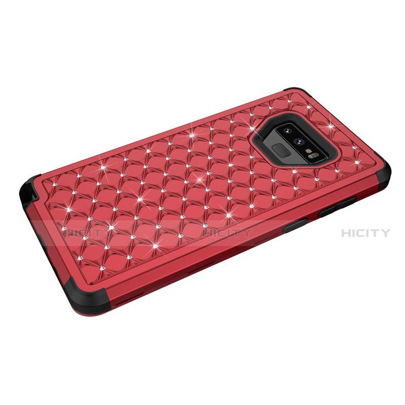 Samsung Galaxy Note 9用ハイブリットバンパーケース ブリンブリン カバー 前面と背面 360度 フル U01 サムスン