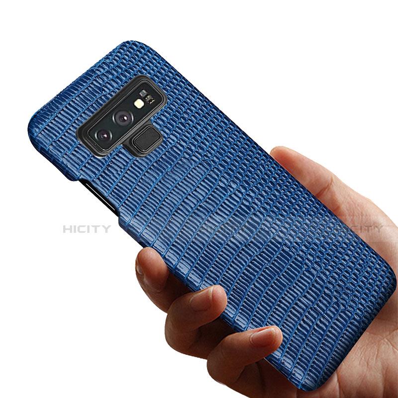 Samsung Galaxy Note 9用ケース 高級感 手触り良いレザー柄 P02 サムスン