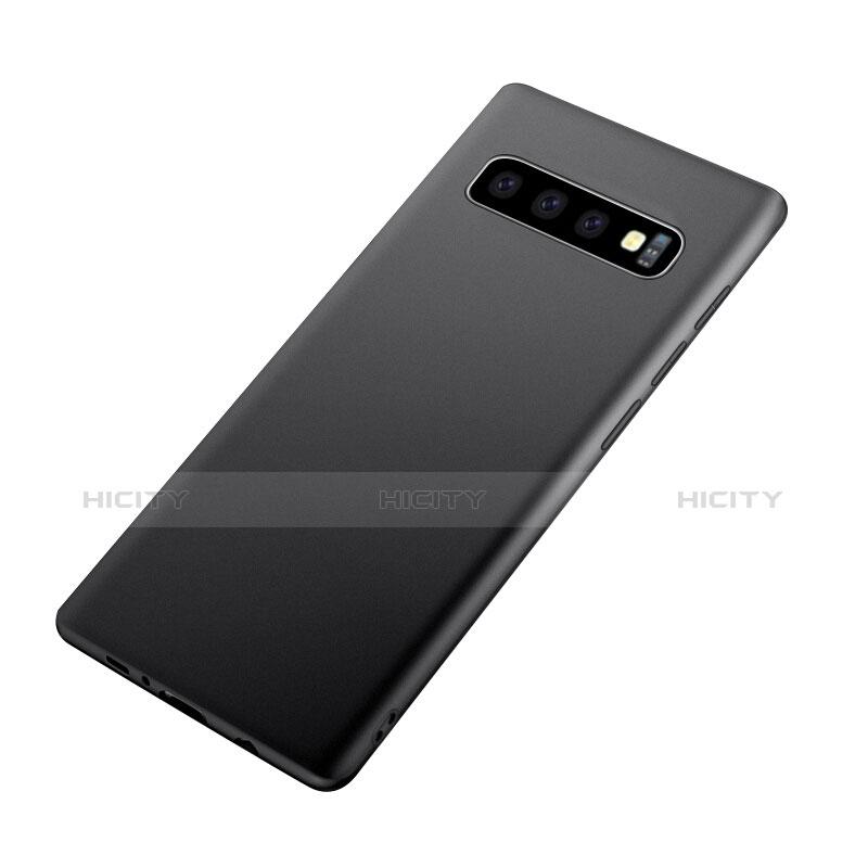 Samsung Galaxy S10 Plus用極薄ソフトケース シリコンケース 耐衝撃 全面保護 サムスン ブラック
