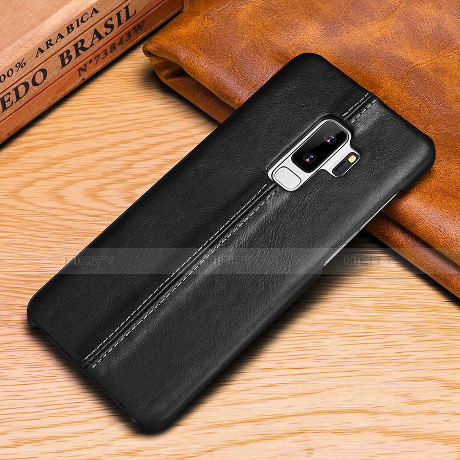 Samsung Galaxy S9用手帳型 レザーケース スタンド カバー P03 サムスン ブラック
