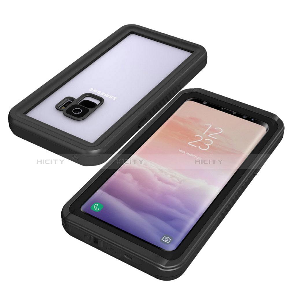 Samsung Galaxy S9用完全防水ケース ハイブリットバンパーカバー 高級感 手触り良い 360度 サムスン ブラック