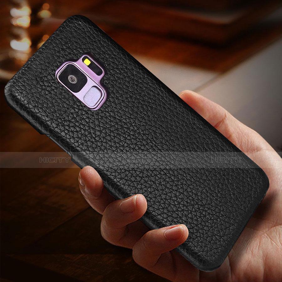 Samsung Galaxy S9用ケース 高級感 手触り良いレザー柄 P01 サムスン
