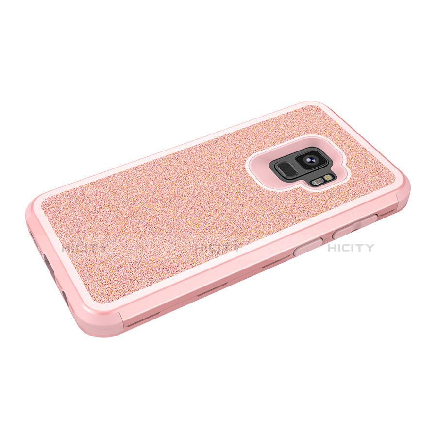 Samsung Galaxy S9用ハイブリットバンパーケース ブリンブリン カバー 前面と背面 360度 フル サムスン