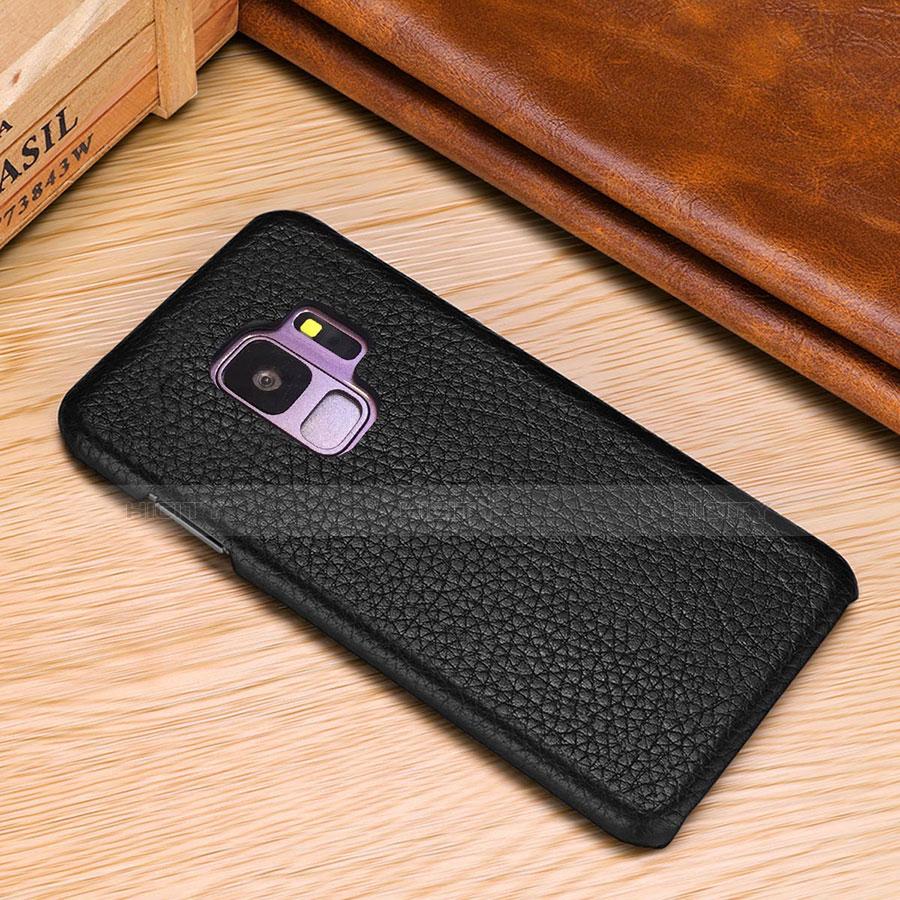 Samsung Galaxy S9 Plus用ケース 高級感 手触り良いレザー柄 P01 サムスン