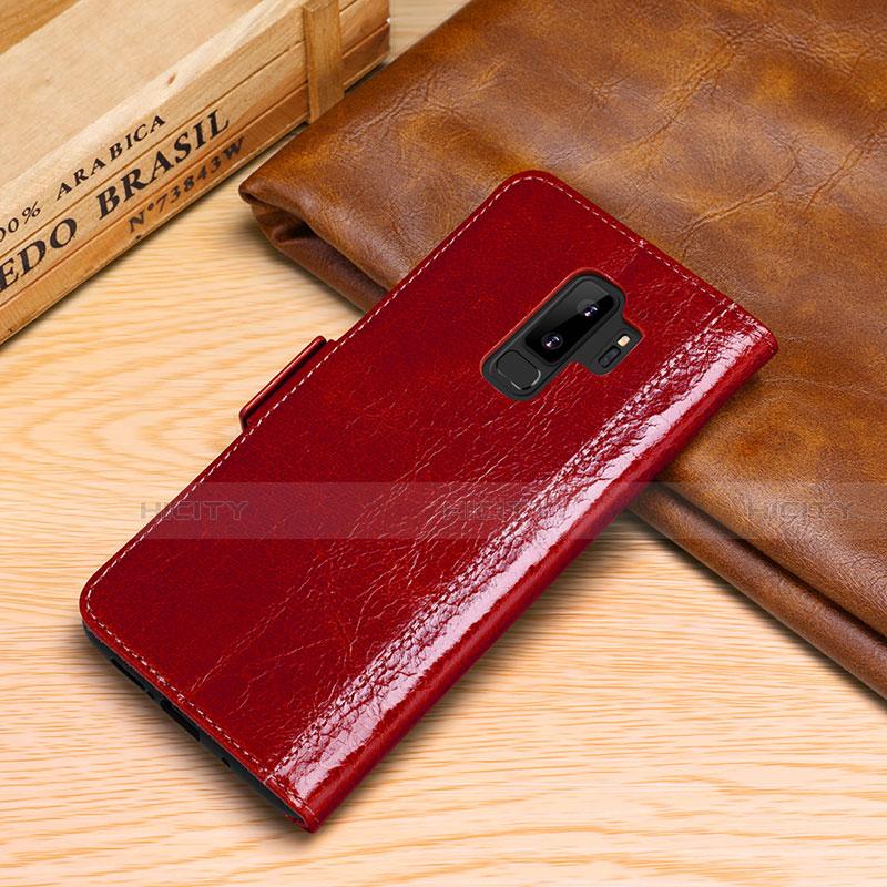 Samsung Galaxy S9 Plus用手帳型 レザーケース スタンド カバー P01 サムスン