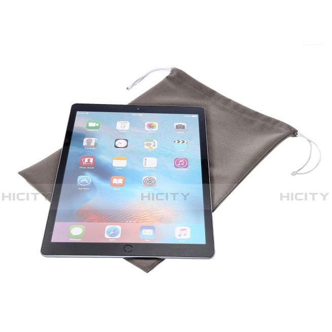Samsung Galaxy Tab S2 8.0 SM-T710 SM-T715用高品質ソフトベルベットポーチバッグ ケース サムスン グレー