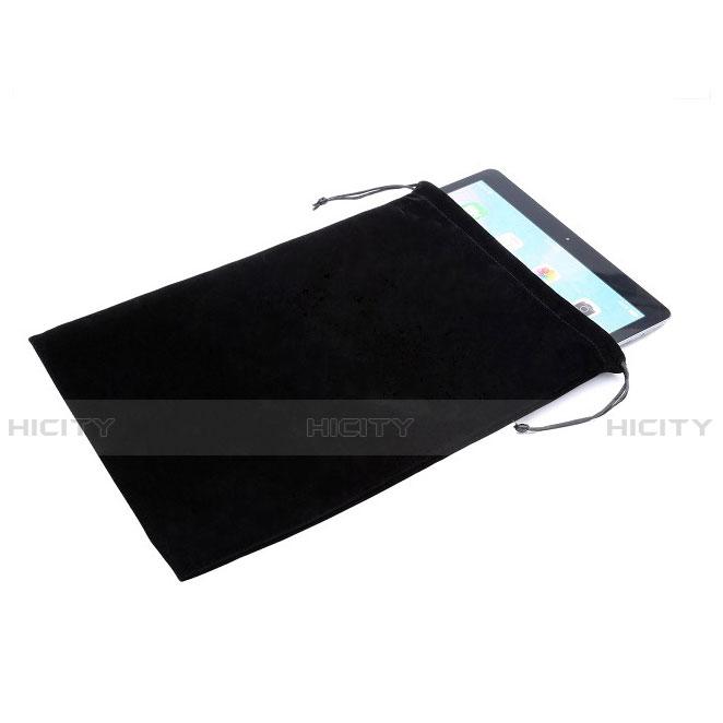 Samsung Galaxy Tab S2 8.0 SM-T710 SM-T715用高品質ソフトベルベットポーチバッグ ケース サムスン ブラック