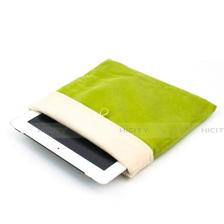 Samsung Galaxy Tab S2 9.7 SM-T810 SM-T815用ソフトベルベットポーチバッグ ケース サムスン グリーン