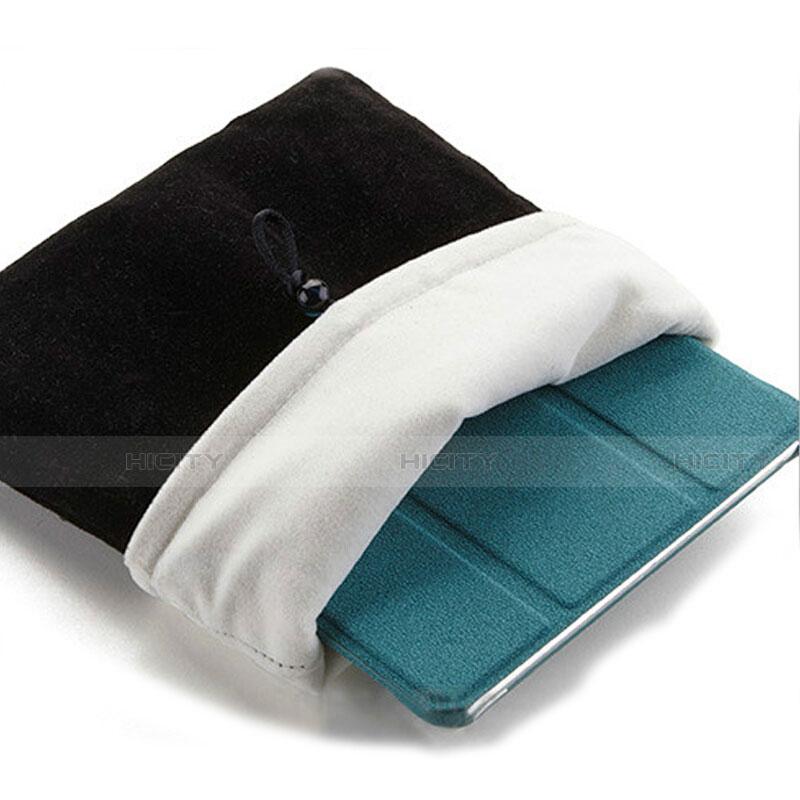 Samsung Galaxy Tab S2 9.7 SM-T810 SM-T815用ソフトベルベットポーチバッグ ケース サムスン ブラック