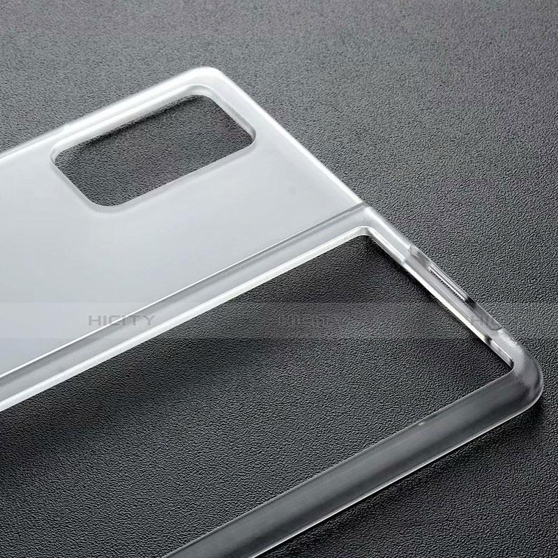 Samsung Galaxy Z Fold2 5G用ハードケース クリスタル クリア透明 サムスン ブラック