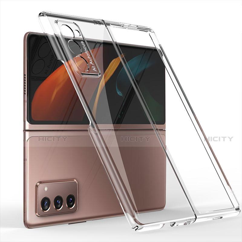 Samsung Galaxy Z Fold2 5G用ハードケース プラスチック 質感もマット 前面と背面 360度 フルカバー サムスン クリア
