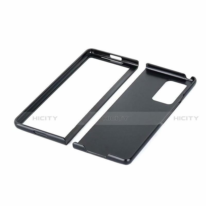 Samsung Galaxy Z Fold2 5G用ケース 高級感 手触り良いレザー柄 S02 サムスン