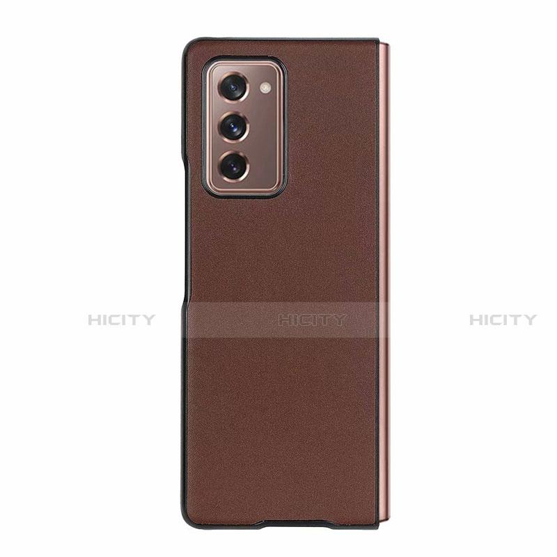 Samsung Galaxy Z Fold2 5G用ケース 高級感 手触り良いレザー柄 S03 サムスン