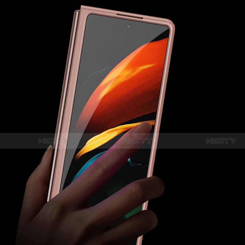 Samsung Galaxy Z Fold2 5G用ハードケース プラスチック 質感もマット 前面と背面 360度 フルカバー サムスン
