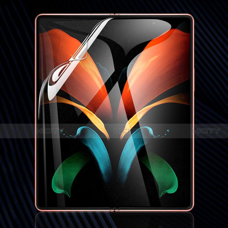 Samsung Galaxy Z Fold2 5G用高光沢 液晶保護フィルム フルカバレッジ画面 サムスン クリア