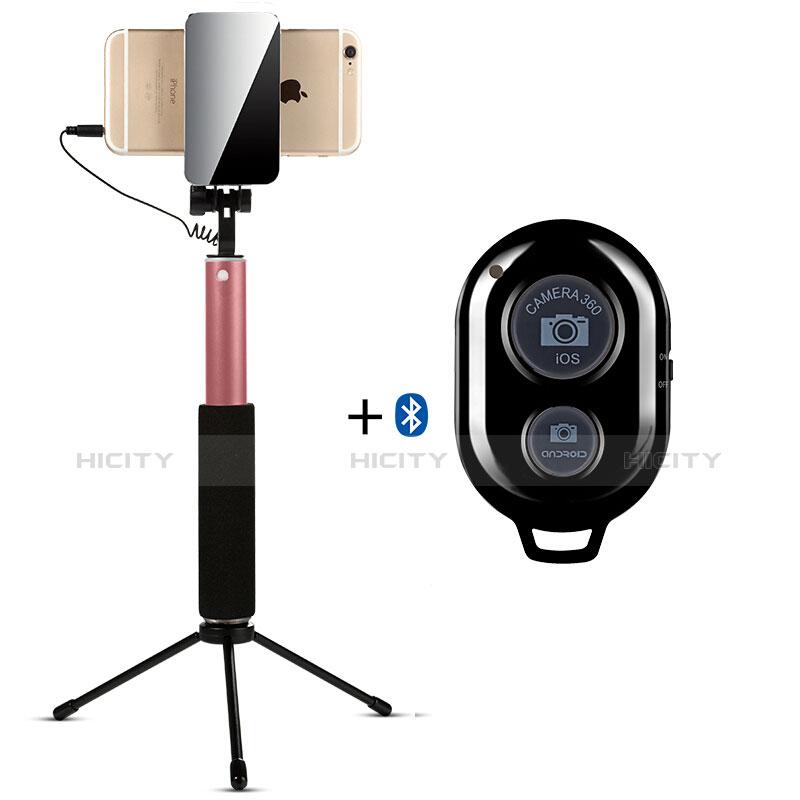 無線 Bluetooth じどり棒 自撮り棒自分撮りスティック セルフィスティック S15 ゴールド