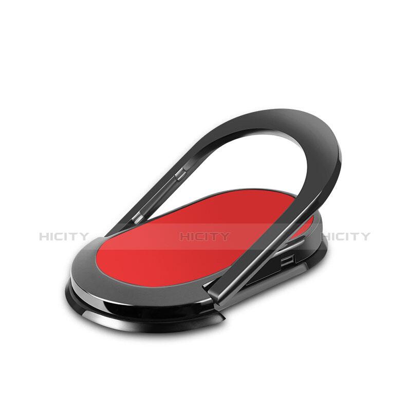 スタンドタイプのスマートフォン ホルダー ユニバーサル バンカーリング 指輪型 R07 レッド