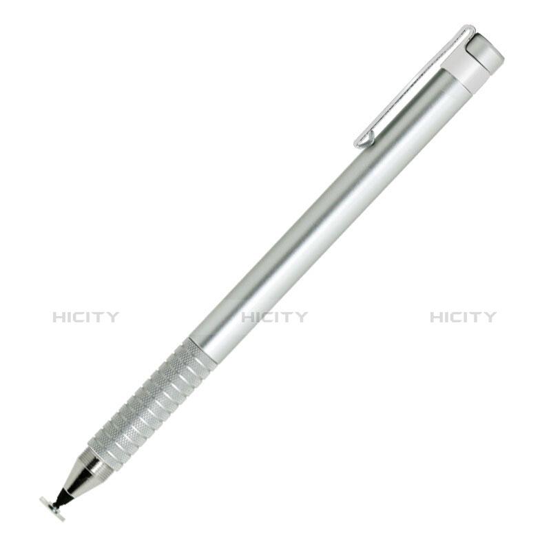高感度タッチペン 超極細アクティブスタイラスペンタッチパネル P14 シルバー