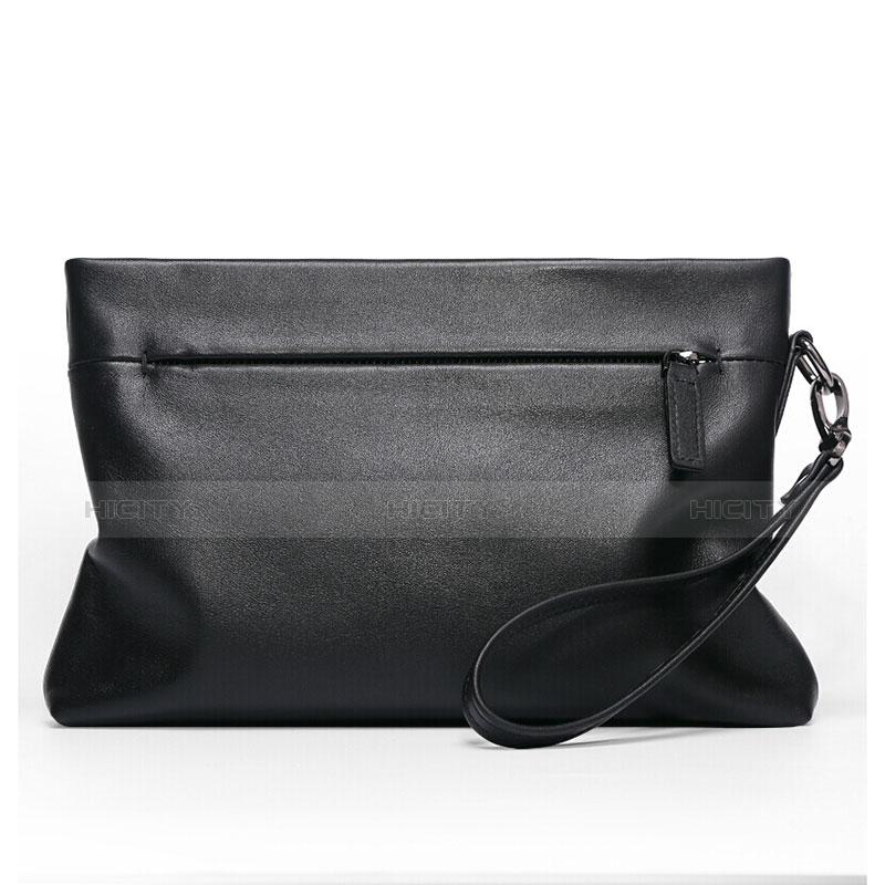 ハンドバッグ ポーチ 財布型ケース レザー ユニバーサル H20 ブラック