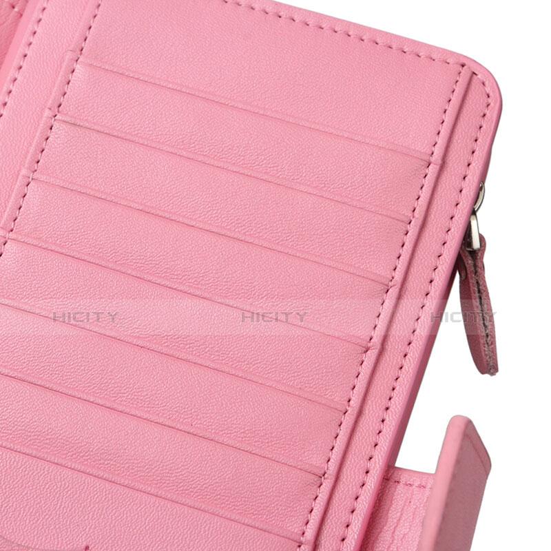 ハンドバッグ ポーチ 財布型ケース レザー ユニバーサル H38 ピンク