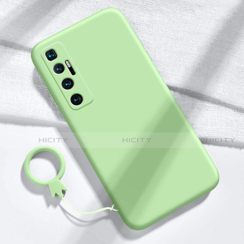 Xiaomi Mi 10 Ultra用360度 フルカバー極薄ソフトケース シリコンケース 耐衝撃 全面保護 バンパー Xiaomi ライトグリーン