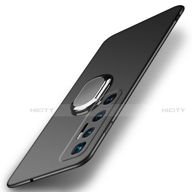Xiaomi Mi 10 Ultra用ハードケース プラスチック 質感もマット アンド指輪 マグネット式 A01 Xiaomi ブラック