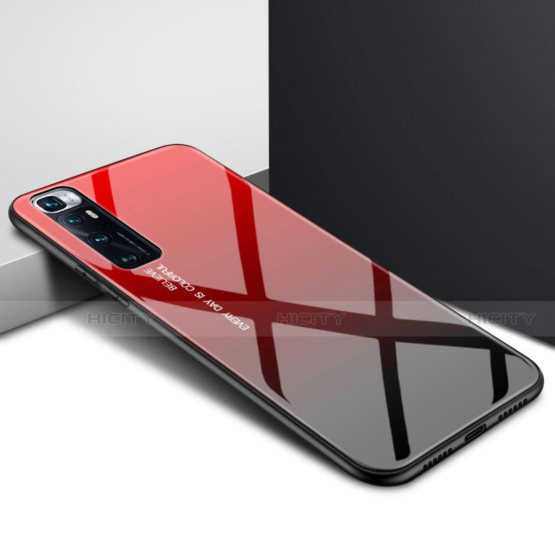 Xiaomi Mi 10 Ultra用ハイブリットバンパーケース プラスチック 鏡面 カバー Xiaomi レッド