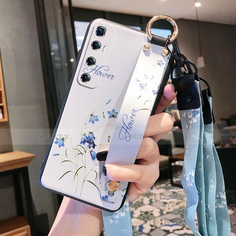 Xiaomi Mi 10 Ultra用シリコンケース ソフトタッチラバー 花 カバー Xiaomi