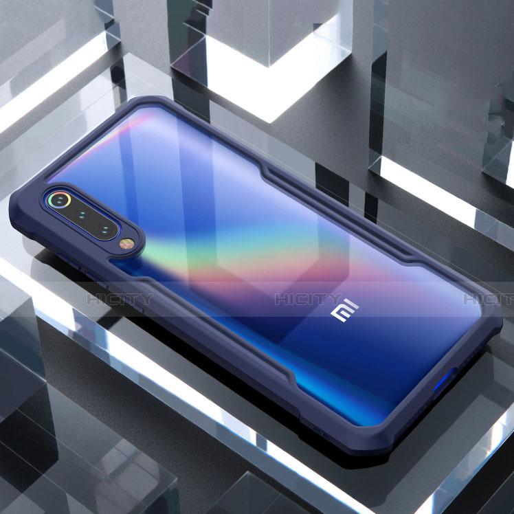 Xiaomi Mi 9 SE用ハイブリットバンパーケース クリア透明 プラスチック 鏡面 カバー M02 Xiaomi ネイビー
