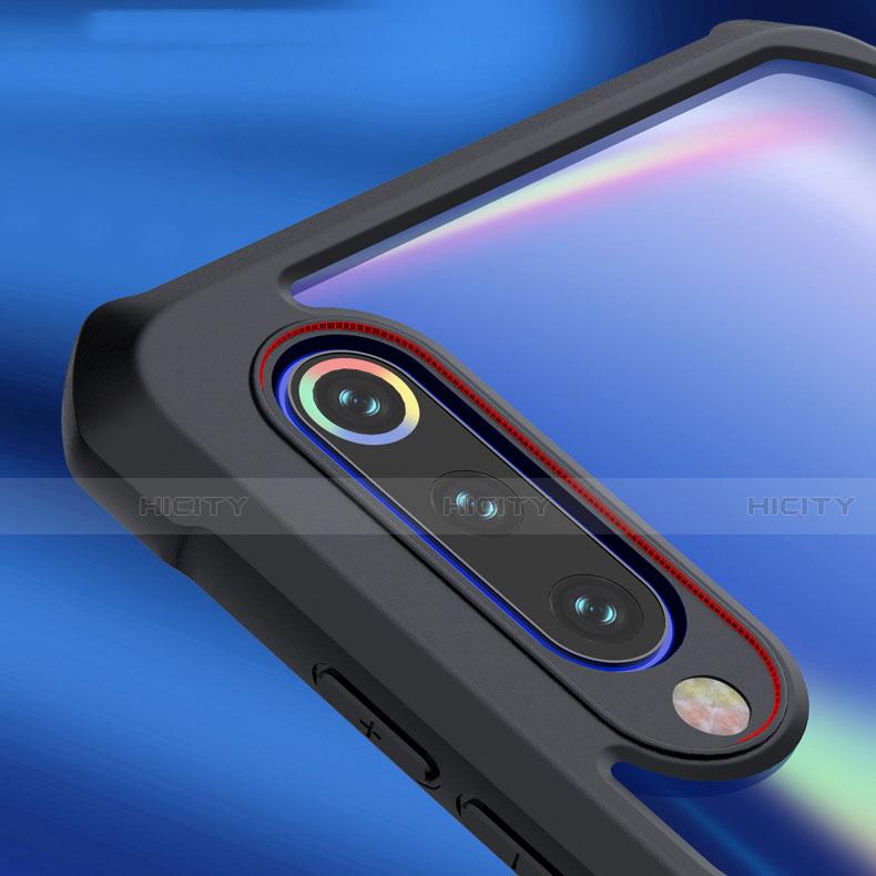 Xiaomi Mi 9 SE用ハイブリットバンパーケース クリア透明 プラスチック 鏡面 カバー M02 Xiaomi