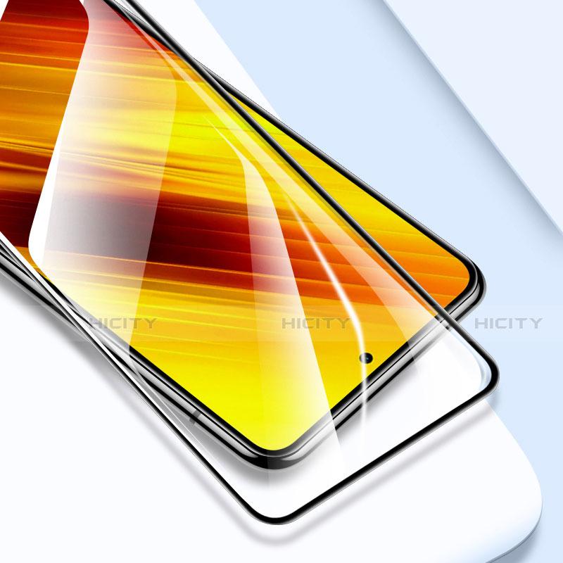 Xiaomi Poco X3 NFC用強化ガラス フル液晶保護フィルム Xiaomi ブラック