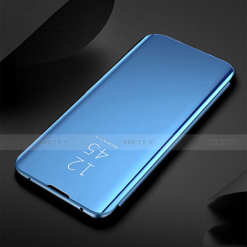 Xiaomi Redmi Note 8T用手帳型 レザーケース スタンド 鏡面 カバー Xiaomi ネイビー